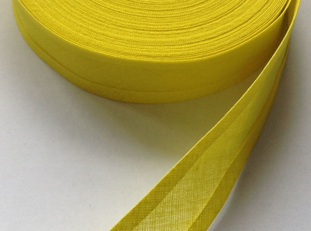25mm wide yellow sewing tape - by the reel