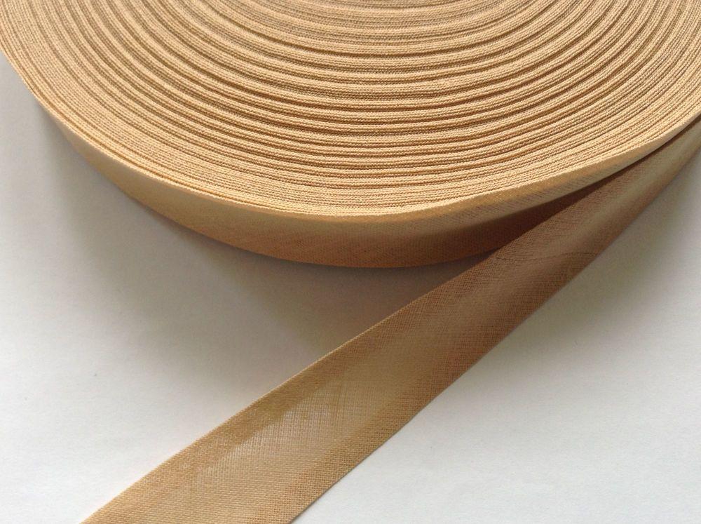 cotton bias binding tape by the reel - beige