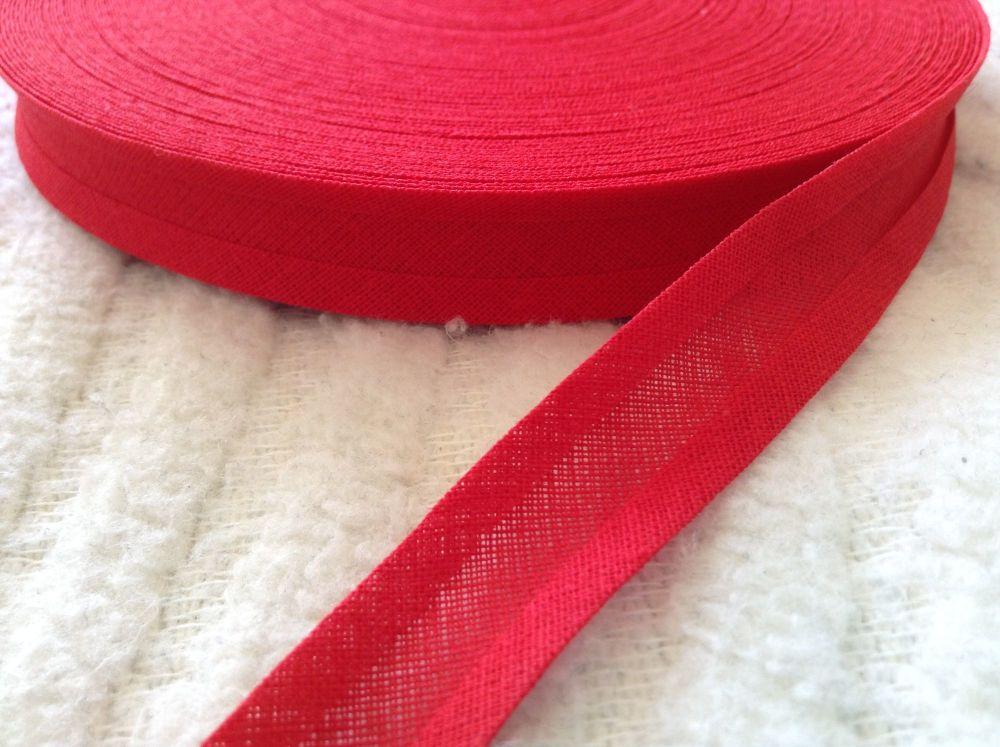 Red Cotton Bias Binding