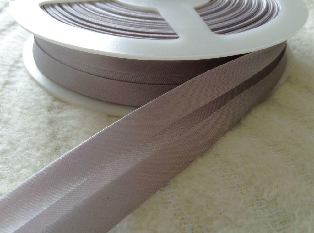 satin bias binding tape - silver grey