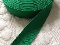 1 Inch Wide Tape Woven Herringbone Half Metre Emerald Green