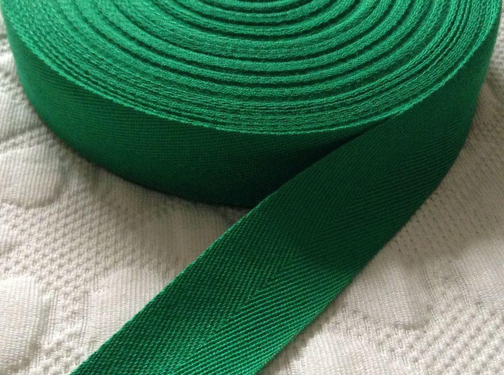 Green Webbing Tape 50 Metre Reel