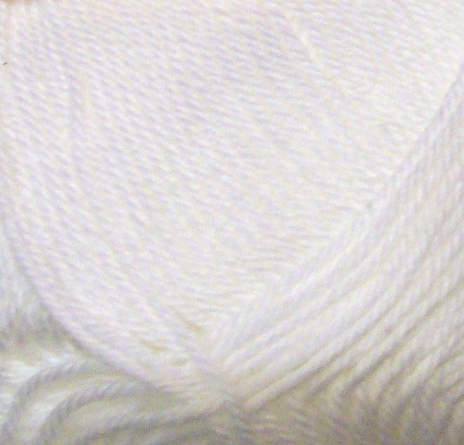 Wendy Supreme Luxury Cotton DK Knitting Yarn - White