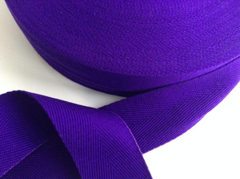 Purple Webbing Tape 25mm Herringbone Twill Tote Bags Aprons