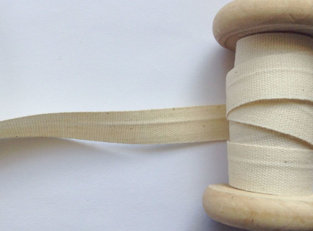Cream Cotton Tape Aprons Cushion Ties Safisa 14mm Per Half Metre