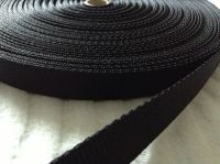 black webbing strapping 20mm woven fabric tape camping bag handles 1m