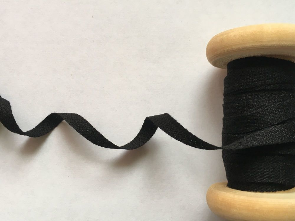 6mm Black Cotton Tape For Aprons And Flag Bunting