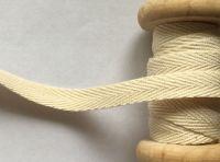 10mm Wide Herringbone Pattern Webbing tape - Cream