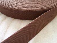20mm Wide Chocolate Brown Webbing Tape