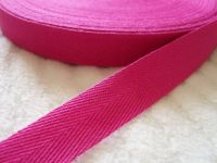 Fuschia Pink 100% Cotton Webbing Tape
