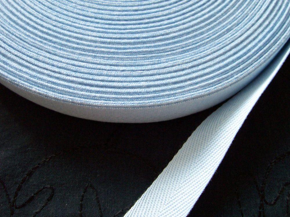 20mm Wide Baby Blue Cotton Webbing Tape