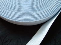 baby blue webbing tape 20mm herringbone pattern 100% cotton