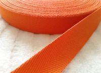 Orange Apron Ties Tape - 20mm Wide
