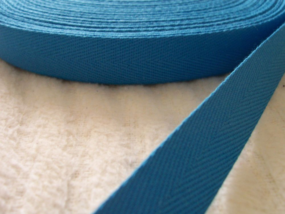 Turquoise Webbing Tape 20mm Wide 100% cotton