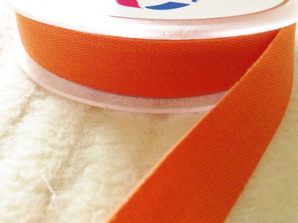 orange cotton tape 14mm wide for aprons bunting sewing crafts 3 metres