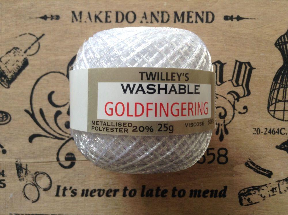 Twilleys Goldfingering Metallic Thread - White