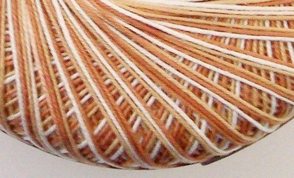 Crochet Thread Number 10 Mercerised Cotton Variegated Beige