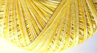 Tatting Lace Thread - Crochetta 10s Lemon Variegated