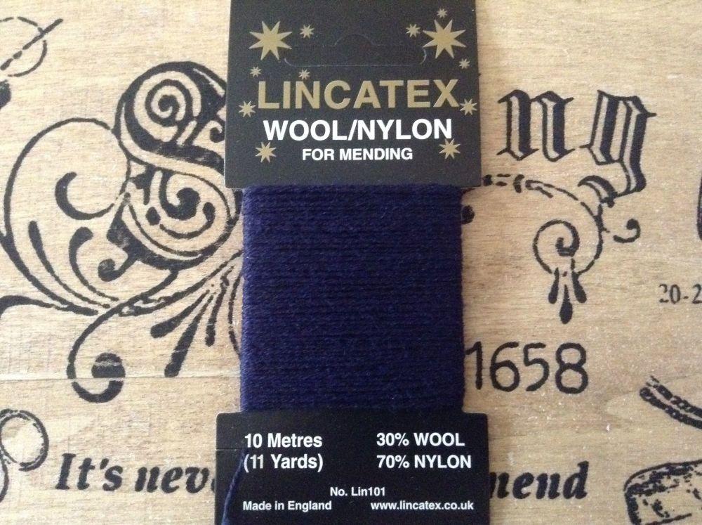 10 metres Lincatex sock darning wool Dark Blue
