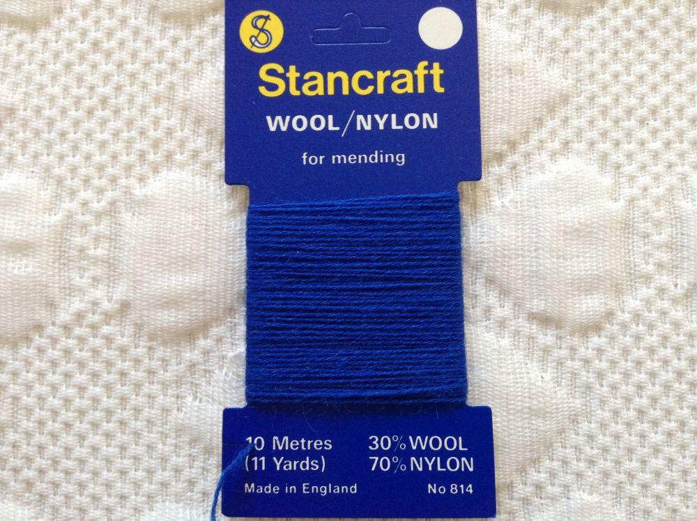 10 Metres of Stancraft Sock Darning Wool Royal Blue