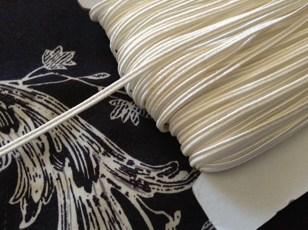 Russia Braid Fabric Trimming Cord - Ivory Cream
