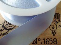satin blanket binding ribbon BLUE CB14F/007 3mtrs x 72mm (folded)
