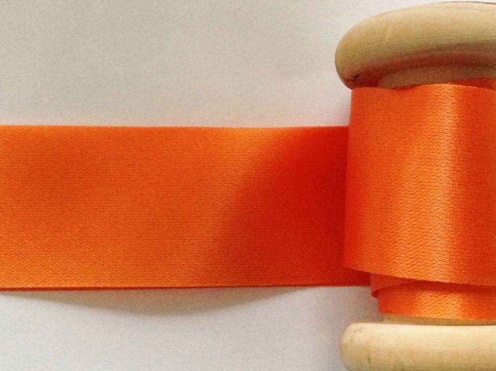 Berisfords Blanket Binding Ribbon in Orange Satin