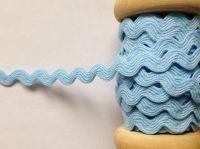 Light Blue Ric Rac Fabric Edging