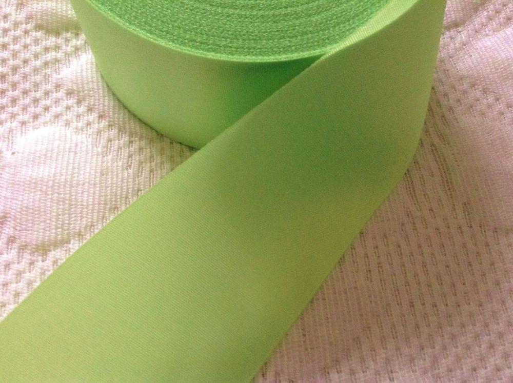 Green Satin Ribbon Sold Per Half Metre 48mm Apple Green