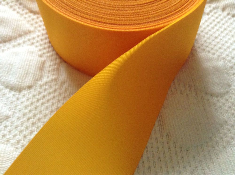 Gold Satin Ribbon 48mm Wide Sold By The Metre Sewing Trim