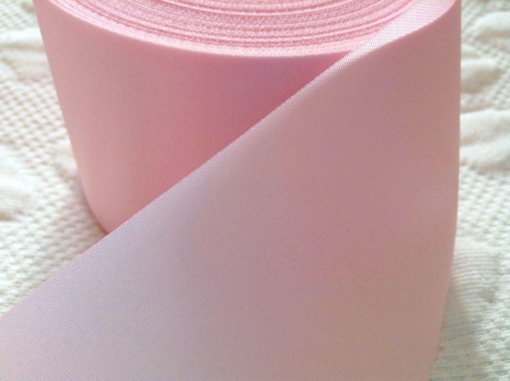 Blanket Binding Ribbon 72mm Wide Baby Pink Satin Trim 1m Light Pink