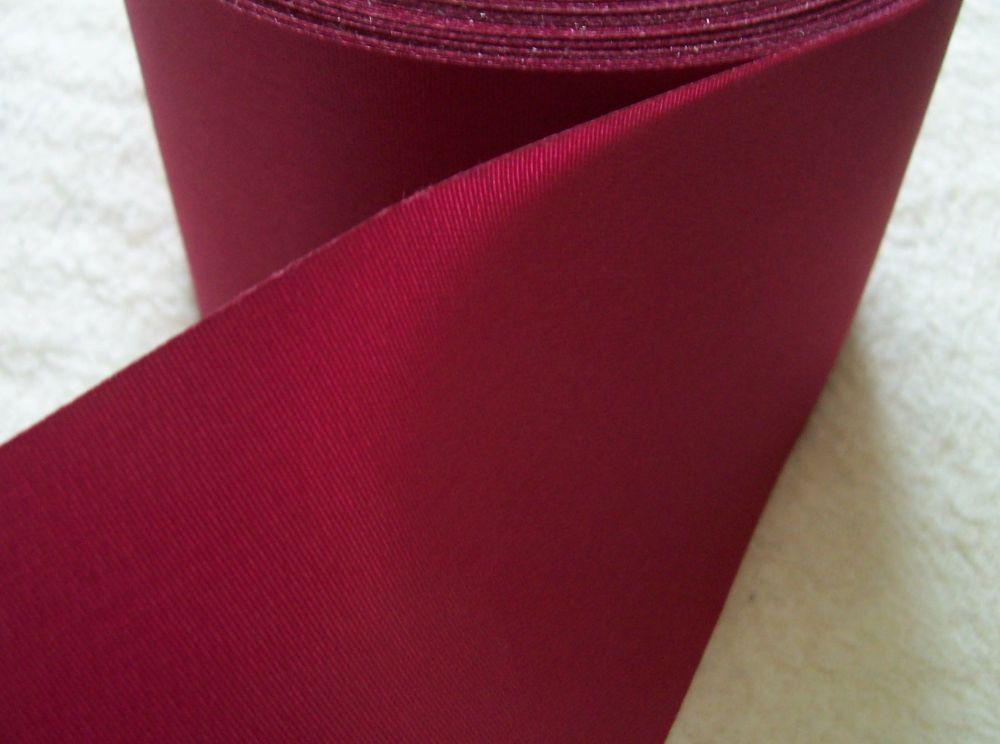 Blanket Binding Ribbon 72mm Wide Maroon Red Satin Trim 1 Metre Cherry