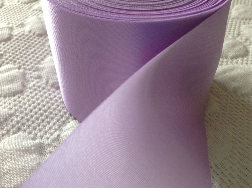 Lilac Blanket Binding Ribbon Satin Fabric Trimming Bridal Crafts 1mtr