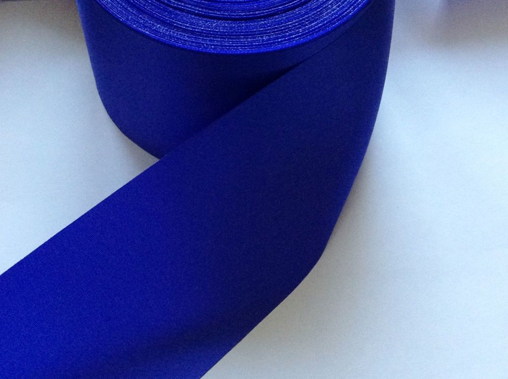 Satin Ribbon 72mm Wide Royal Blue Sold By The Half Metre