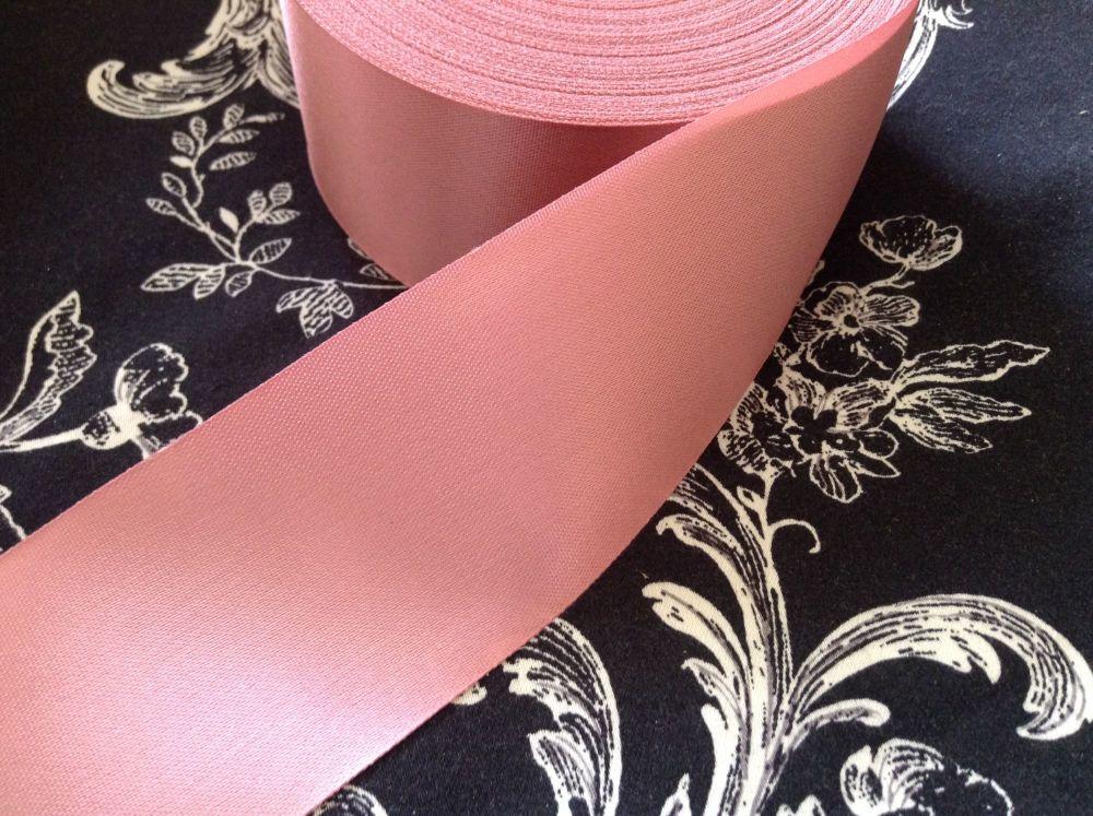 Pink Satin Ribbon 48mm Sold Per Half Metre Dusky Pink