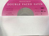 White Satin Ribbon - Berisfords Double Faced Satin