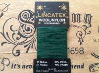10 metres Lincatex sock darning wool Dark Green
