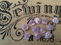 Lilac Heart Shape Buttons