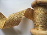Berisfords Gold Metallic Lame Ribbon 1 Metre x 25mm 9165/244