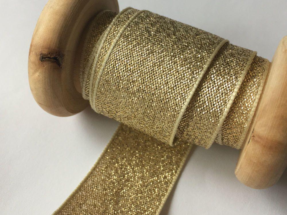 Berisfords Ribbon 20 Metres x 25mm Gold Lamé