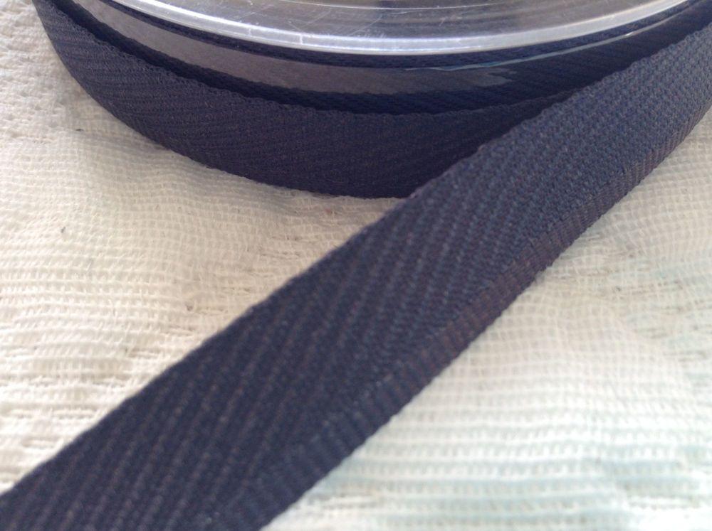 Berisfords Trouser Kick Tape By The Reel - Dark Grey