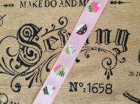 Pink Cupcake Pattern Grosgrain Ribbon - Bertie's Bows