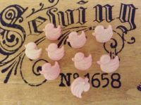 Baby Pink Duck Buttons - 10 Pink Ducklings