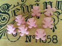 Baby Pink Teddy Bear Shaped Buttons