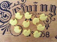 Duck Buttons - 10 Lemon Yellow Ducklings