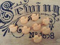 Peach Duck Buttons - 10 Ducklings
