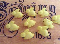 Rabbit Buttons - 10 Lemon Yellow Large Bunnies