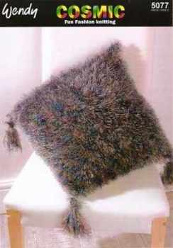wendy cosmic and aran wool knitting pattern 5077 cushion covers