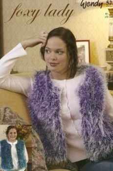 Wendy Racy Foxy Lady Knitting Pattern 5223 Bodywarmer