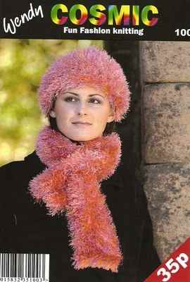 Wendy Cosmic Knitting Wool Pattern 100, Scarf & Hat